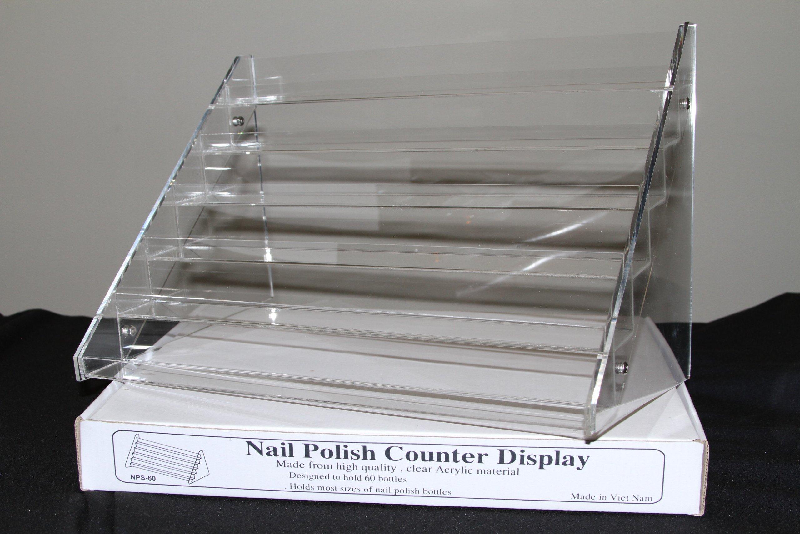Beauticom Nail Polish Table Rack Display (Hold Up To 60 Bottles)