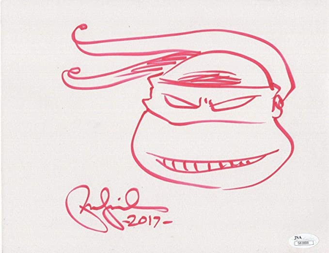 Amazon.com: PETER LAIRD AUTHENTIC HAND SIGNED 8x11 DRAWING ...