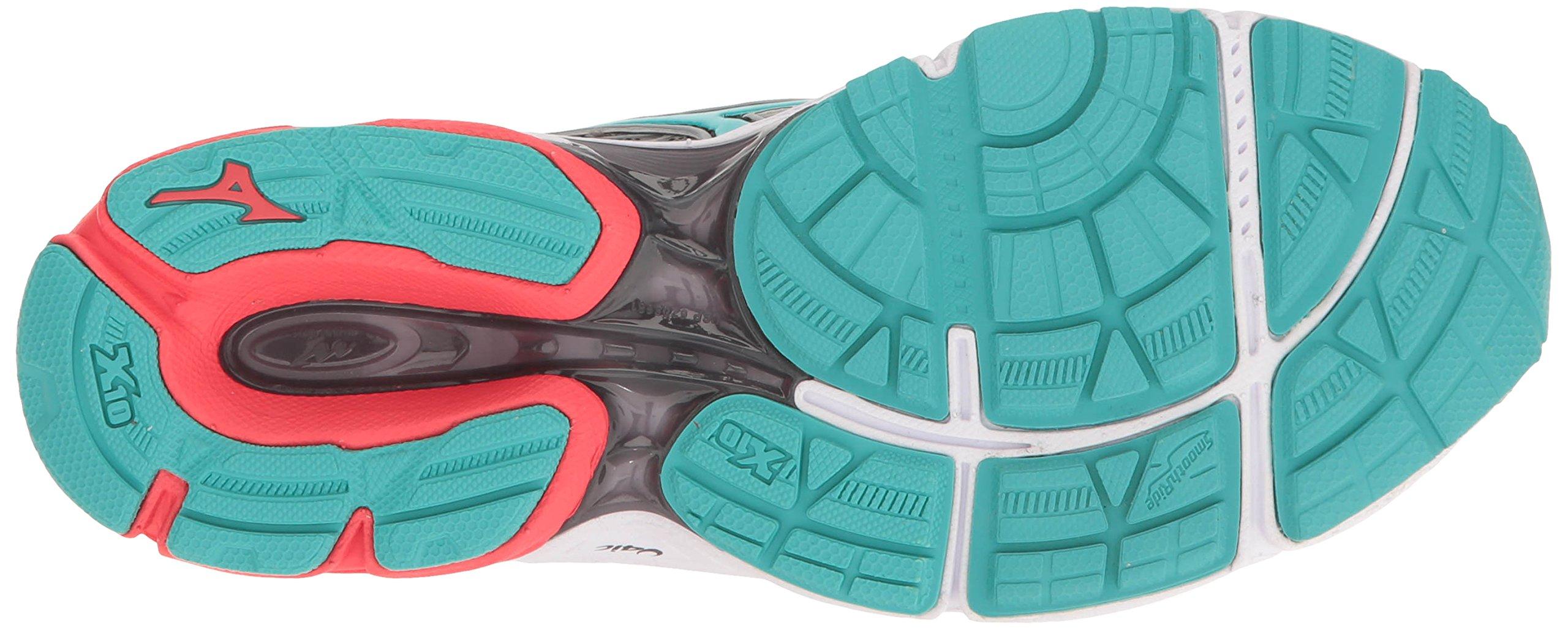 Mizuno Women's Wave Catalyst 2 Running Shoe, Grey/Mint, 9 B US by Mizuno (Image #3)