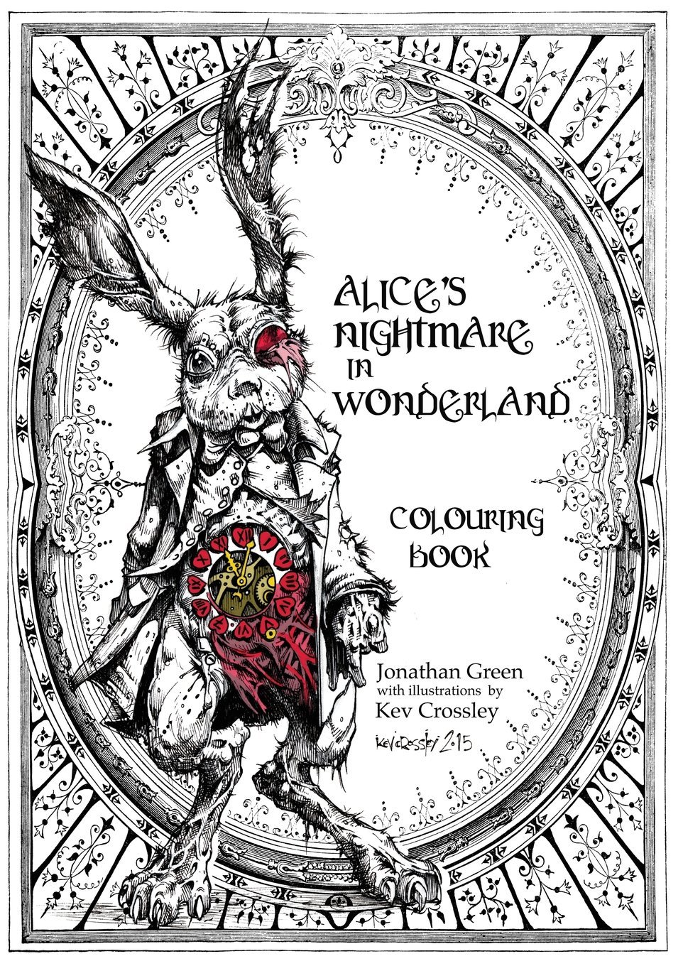 alice u0027s nightmare in wonderland colouring book snowbooks