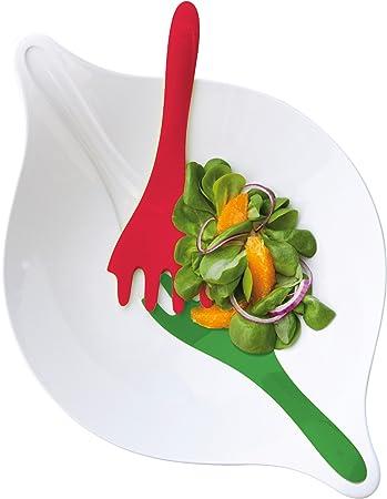 Koziol Leaf L + 3/l Bol /à Salade blanc avec rouge//vert Saladier Bol Saladier avec couverts 3692820