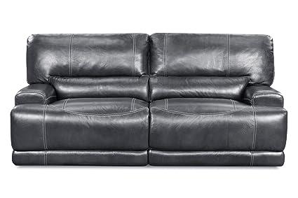 Amazon.com: Cannon Leather Power Reclining Sofa: Kitchen ...