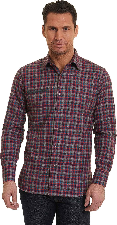Robert Graham Mens Jamestown Long Sleeve Classic Fit Woven Shirt