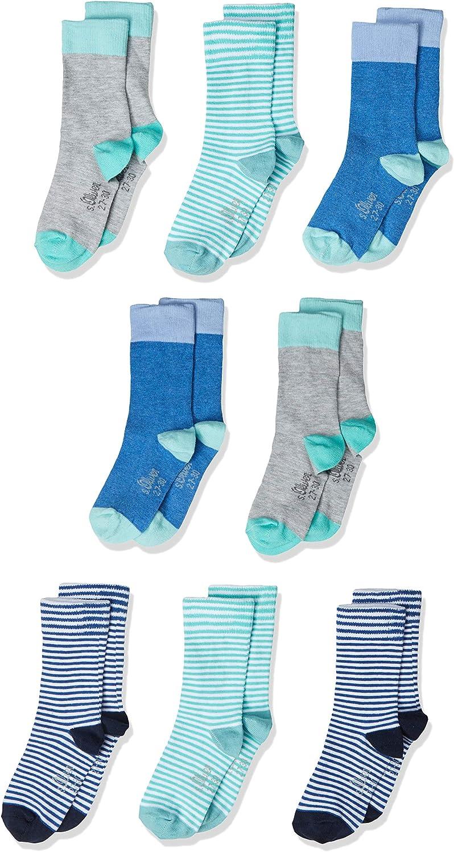 Petit Bateau Boys Calf Socks, Pack of 3