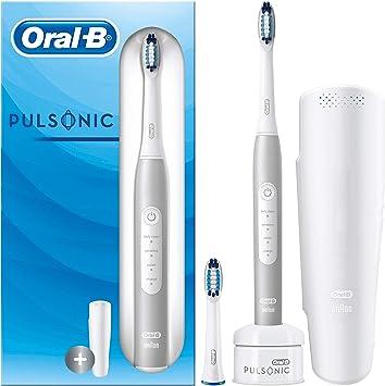 Oral-B Pulsonic Slim Luxe 4200 Platinum Sonic - Cepillo de Dientes Eléctrico, Edición de Viaje, con Temporizador, Estuche de Viaje, 2 Cabezales de Recambio: Amazon.es: Salud y cuidado personal