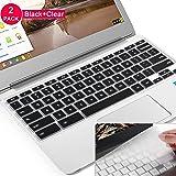 "Lapogy Keyboard Cover for ASUS Chromebook Flip C434TA-DSM4T 2-in-1 Laptop 14"" Touchscreen,C434 Keyboard Protector Skin,for C434TA/C425TA/C433TA,ASUS C434TA Accessories(Clear) Black+TPU"
