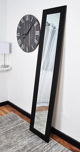 BrandtWorks BM2THIN Matte Black Full Length Mirror