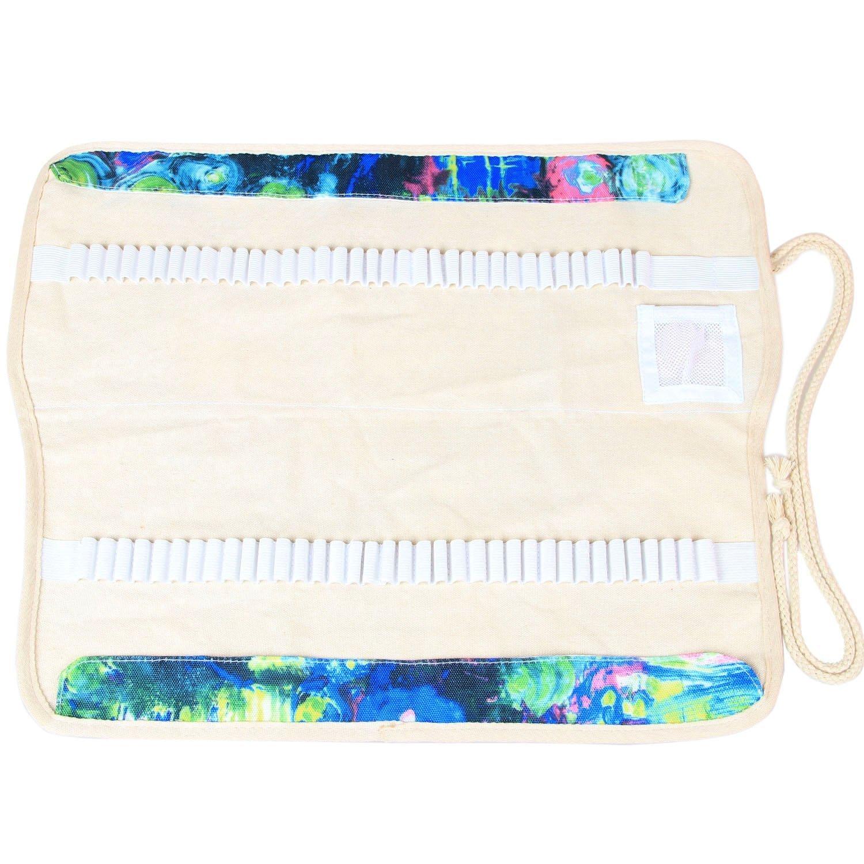 Damero Wrap Tele per 100 matite colorate, cassa del supporto di matita rotolo multiuso Pouch per Uff Damai DM03312