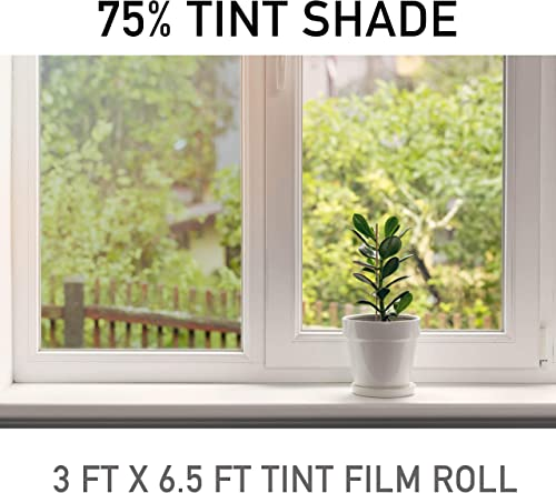 Snapguard Solutions Premium Ceramic Window Tint for Home Commercial Buildings Superior Heat Control UV Protection 3 Feet x 6.5 Feet Roll 75 - 2mil