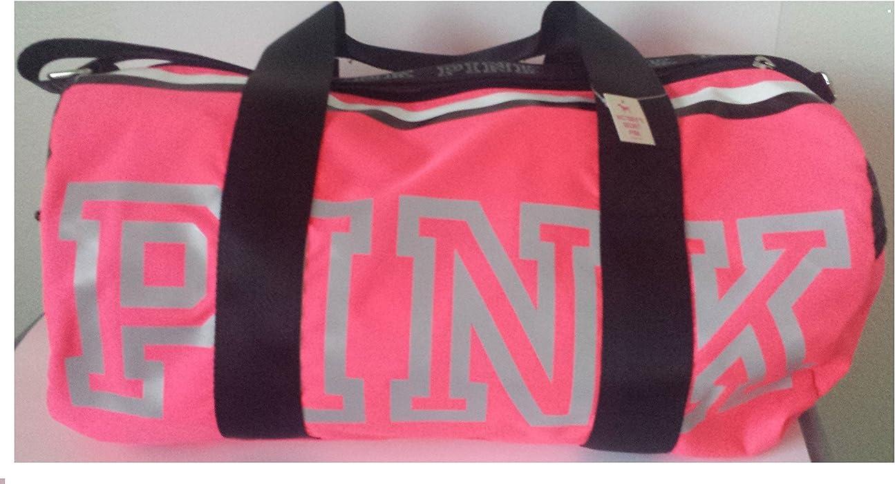 d473b3fa2a Victoria s Secret Pink Gym Duffle Bag Reflective Logo-Neon Hot Pink ...