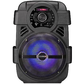 "akoustiq 8 ""CON 2800 W Pro DJ amplificador altavoces Bluetooth USB SD tarjeta AUX"