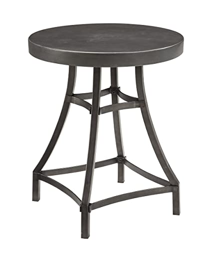 Ashley Furniture Signature Design   Starmore Round End Table   Rustic  Contemporary Side Table   Brown