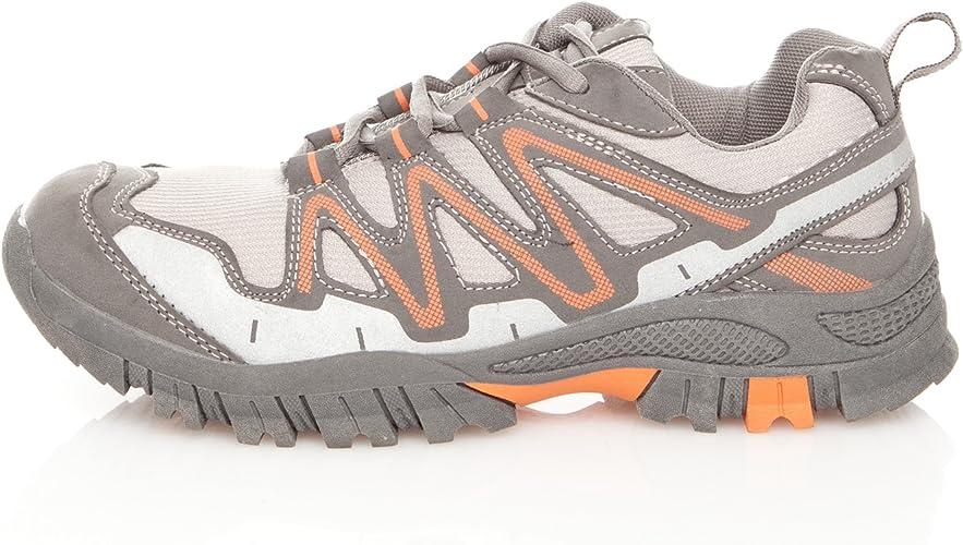 Praylas Zapatilla Trekking Silbon Gris/Naranja 41: Amazon.es: Zapatos y complementos