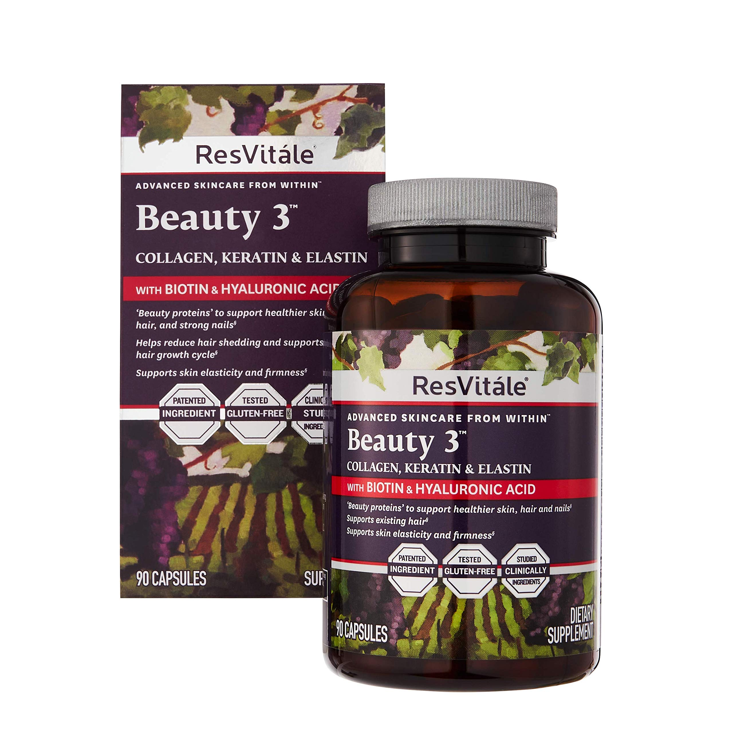 ResVitale Advanced Skincare Beauty 3 90 Capsules