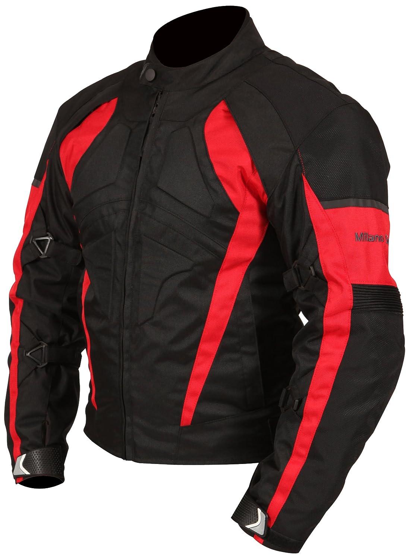 Black//Green, Small Milano Sport Gamma Mens Motorcycle Jacket