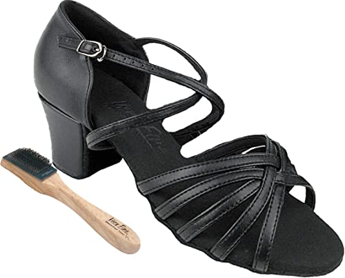 9b807150d2e00 Ladies Women Ballroom Dance Shoes from Very Fine C1670C Black Leather 1.6