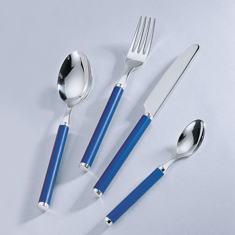 Manche en Plastique Bleu Blue Ocean Couverts de Table pour 6 Personnes Villeroy /& Boch Play INOX 30 pi/èces