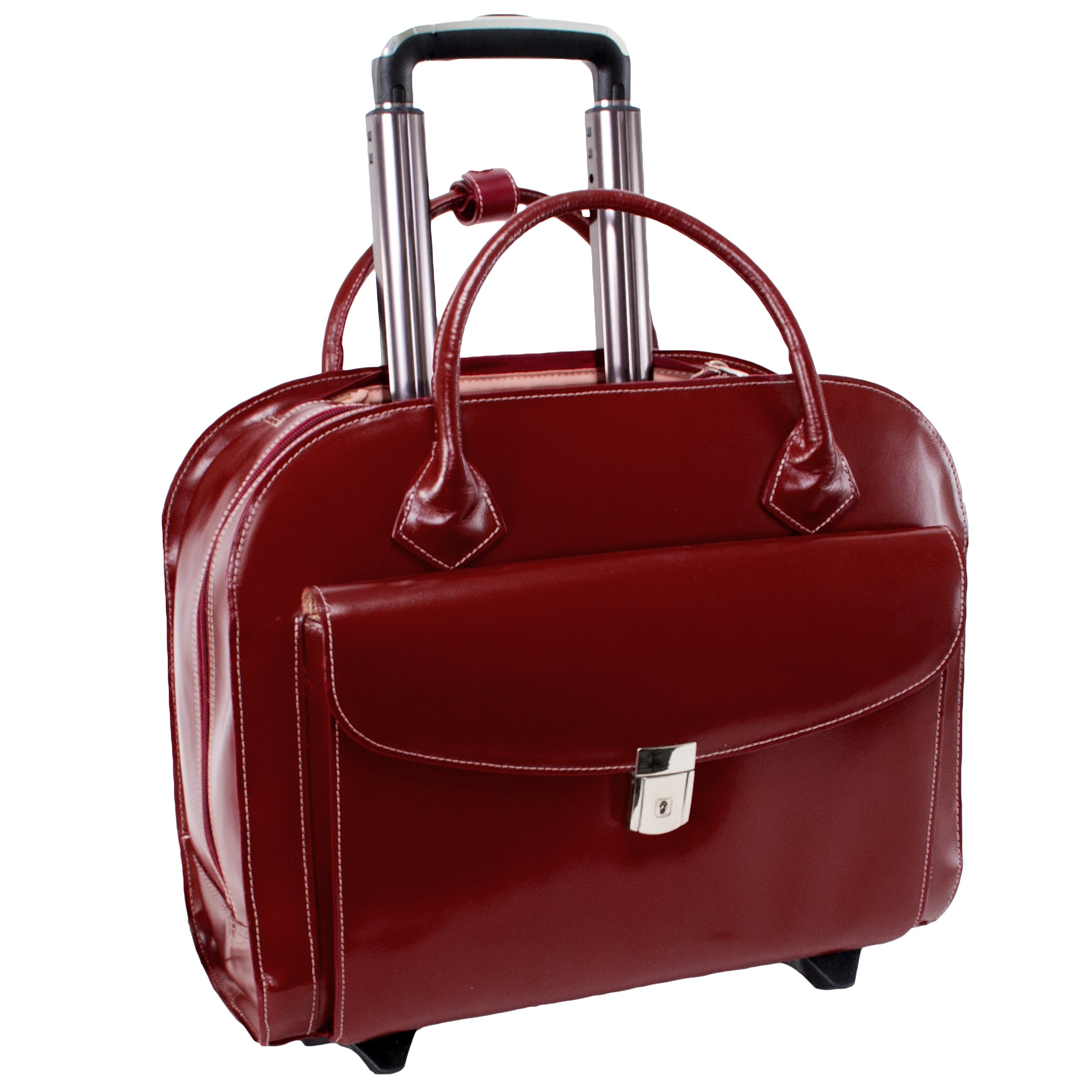 McKleinUSA GRANVILLE 96146A Red Wheeled Ladies' Laptop Case