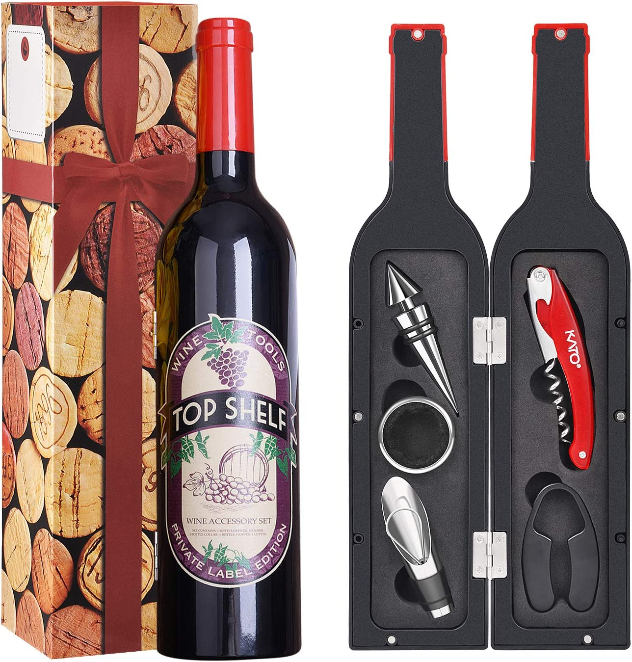 5 Pcs Wine Accessories Gift Set Wine Opener Set Includes
