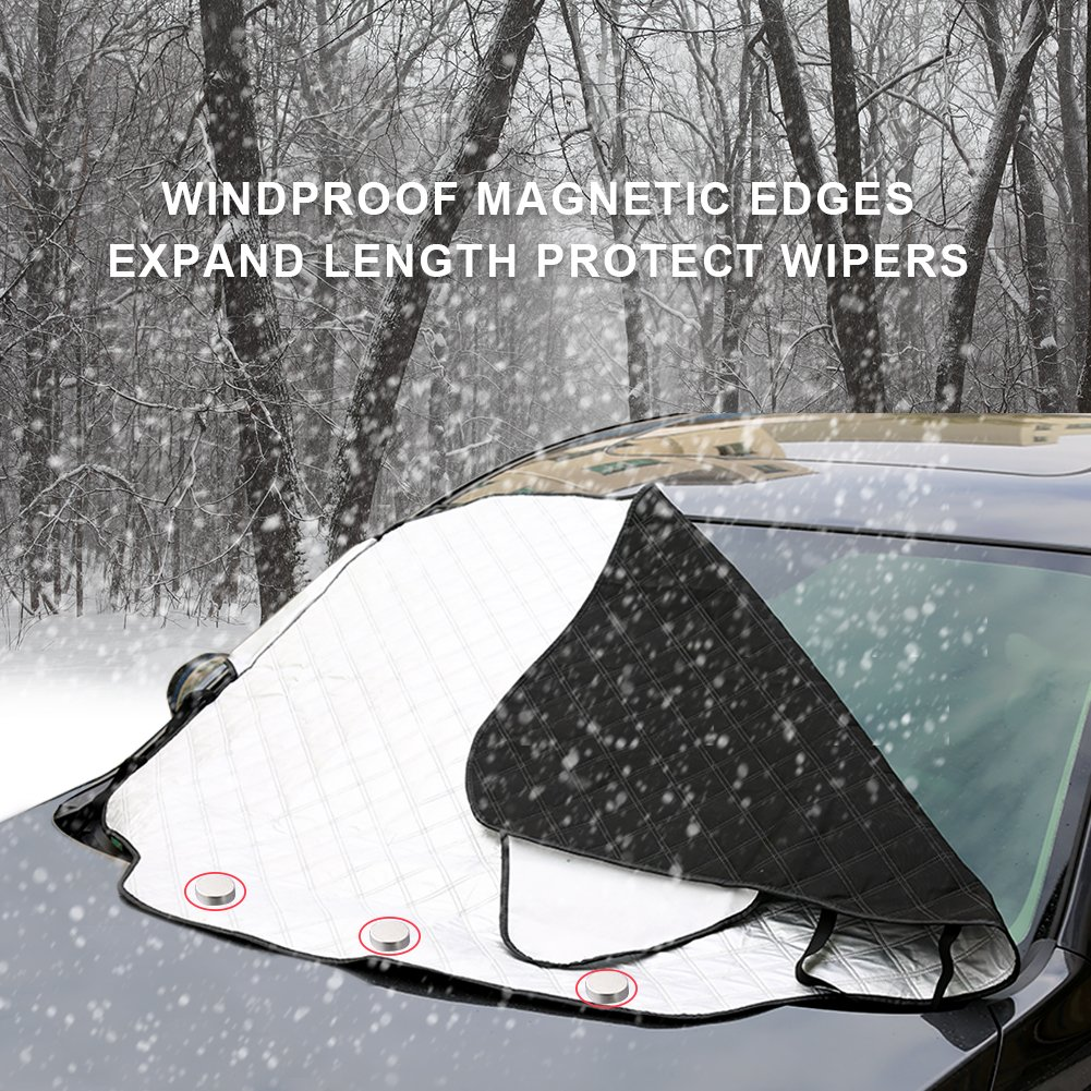 Car Windshield Snow Cover Extra Large Full Protection Keeps Ice Snow Frost Off