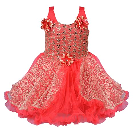 Wish Karo Girls Frock Dress - Net - (fe1223t) Girls' Dresses & Jumpsuits at amazon