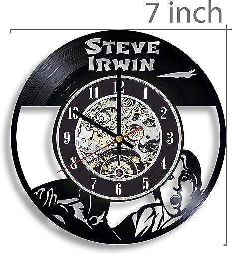 Steve Irwin The Crocodile Hunter Vinyl Record Wall Clock