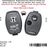 StylishFlipKeys® Plastic Body for Honda Cars Fitted with 2 Button Remote
