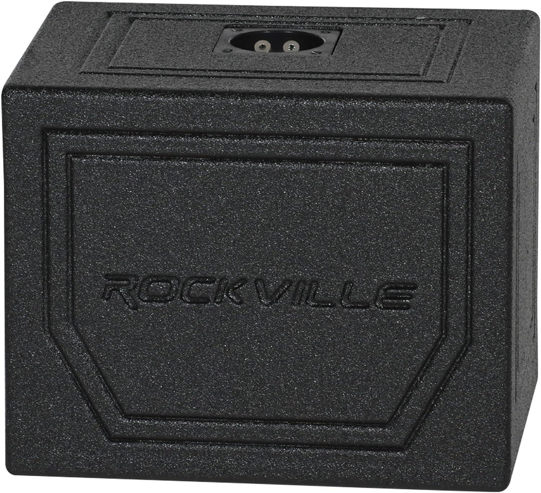 "Rockville RS10B Single 10/"" 0.75 cu.ft Sealed Bedlined Car Sub Enclosure Box"