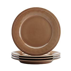 Rachael Ray Cucina Dinnerware 16-Piece Stoneware Dinnerware Set, Mushroom Brown