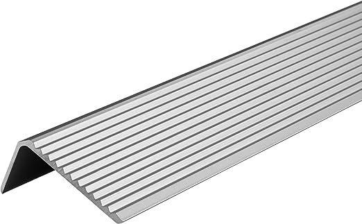 Rainures Argent/é 1000 mm Sol Perfor/é Vissage Gedotec Profil/é Escalier Marche aluminium pour Nez // Bord de marche Protection Angle 25 x 20 mm