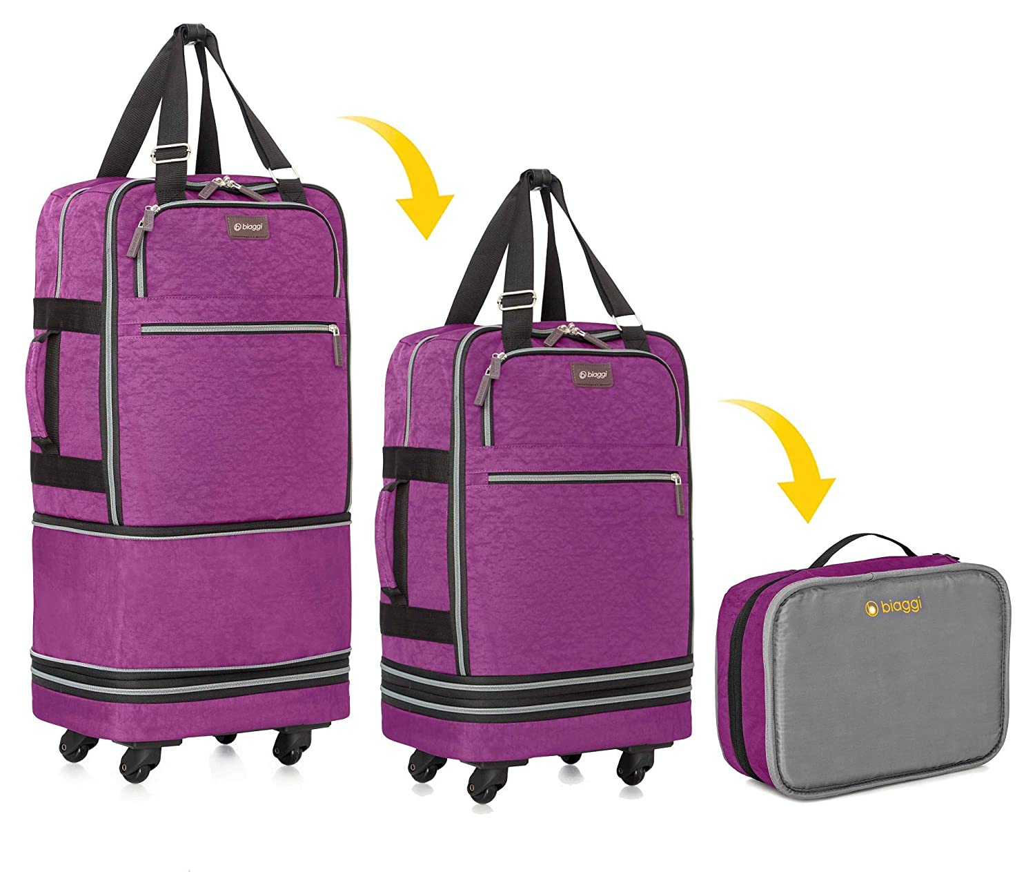 Zipsak Boost - Expandable Zipsak Carry. Carry On Expands Into a 28 Check-In bag Cobalt Blue Biaggi luggage 631128-CB