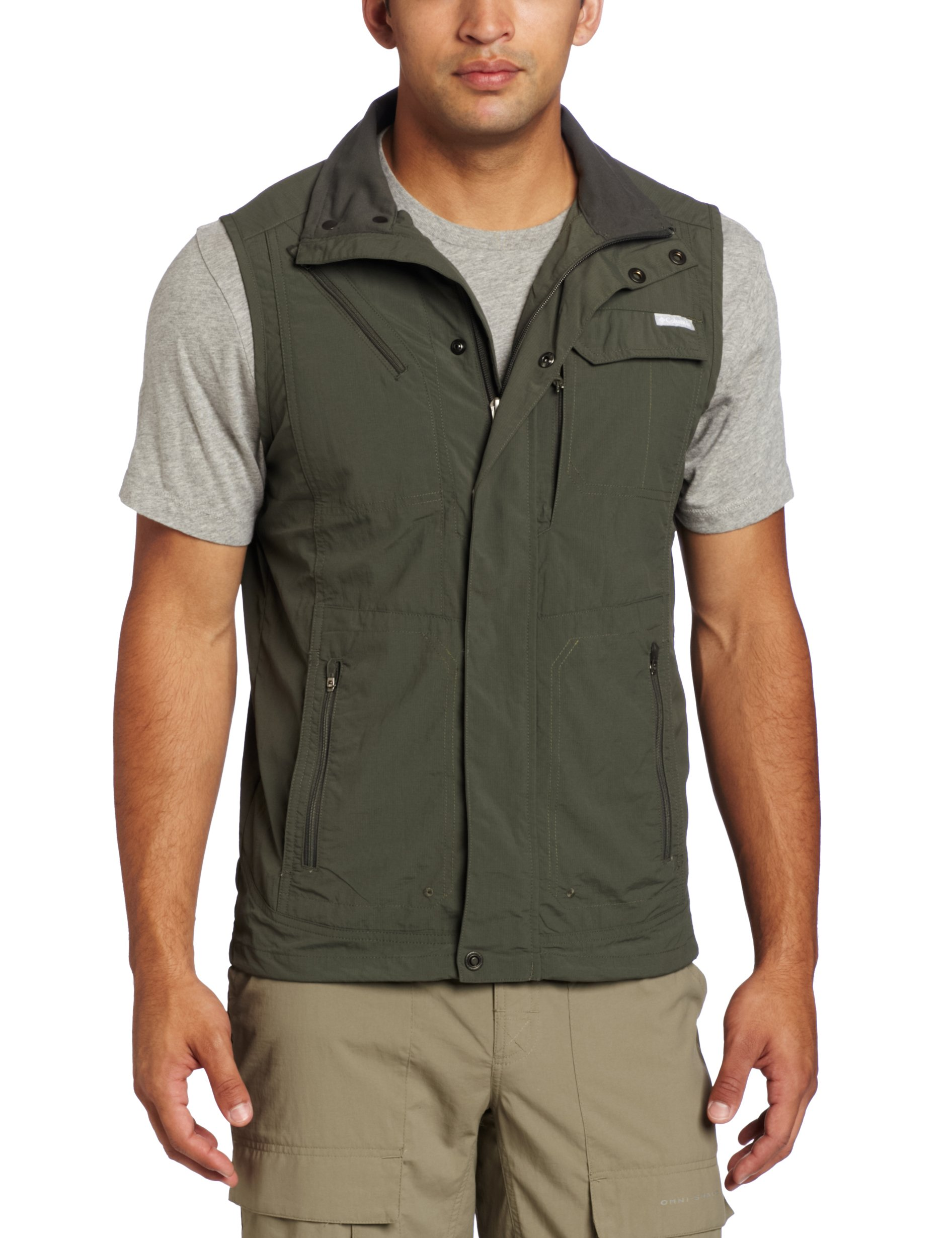Columbia Men's Silver Ridge Vest, Gravel, Large by Columbia (Image #1)