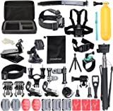 Accessories for Gopro, ccbetter Action camera mounts for Gopro Hero 2018 Hero 6 Hero 4 Hero 5 Session Hero 1 2 3 3+ for most of sports camera With Case (Black) by ccbetter