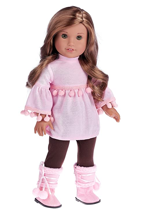 c2cddcf2bb7 DreamWorld Collections - Sweet Pea - 3 Piece Outfit - Clothes Fits 18 Inch  American Girl