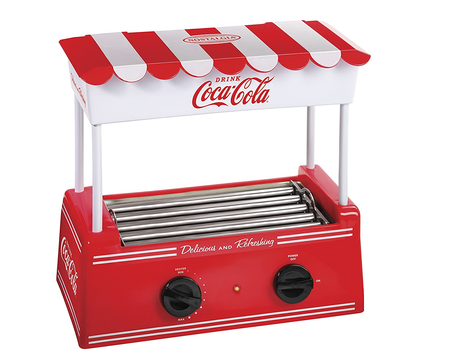 Nostalgia Coca-Cola Hot Dog Roller and Bun Warmer