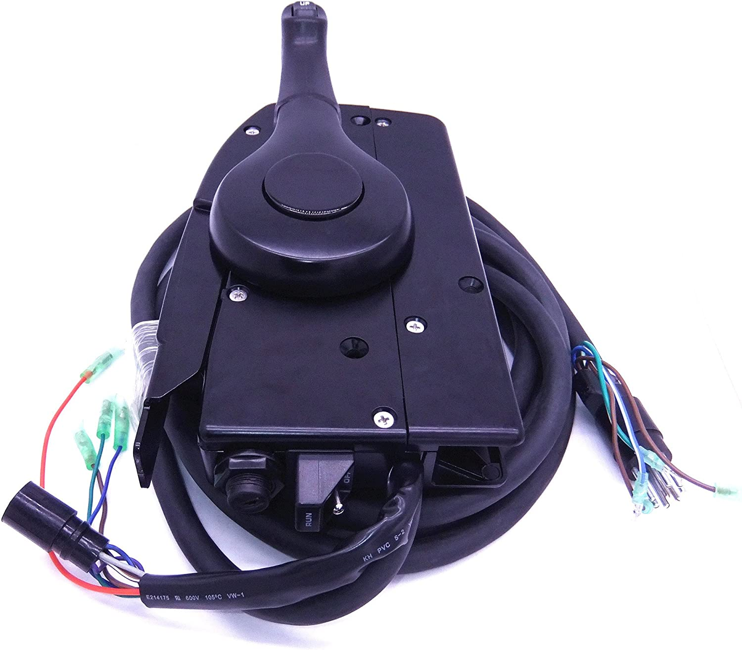 Mophorn 881170A15 Boat Motor Side Mount Remote Control Box with 8 Pin for Mercury Outboard Engine PT