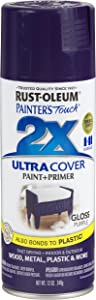 Rust-Oleum 249097 Painter's Touch 2X Ultra Cover, 12-Ounce, Purple
