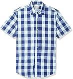 Amazon Essentials para hombre estándar Slim-fit de manga corta camisa de cuadros