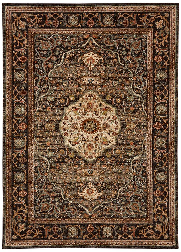 Karastan Spice Market Woven Petra Charcoal 5'3x7'10 - Area Rugs by Karastan