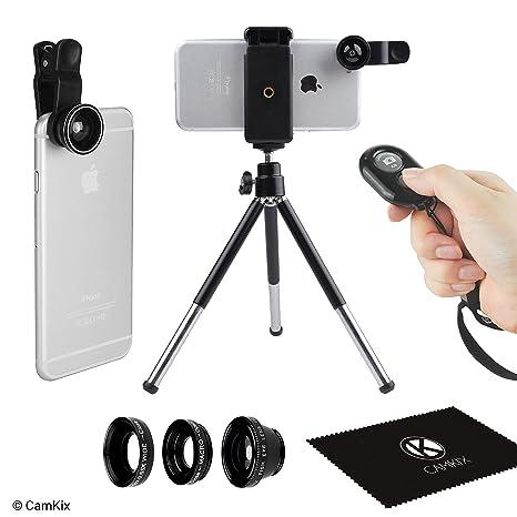 Lente de camara Universal 3en1 disparador remoto y trípode para teléfonos inteligentes incluyendo el control remoto