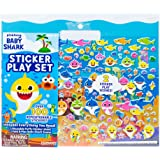 Baby Shark Sticker Play Set by Horizon Group USA Includes Over 100 Reusable Puffy Stickers & 1 Fold & Play Scene…