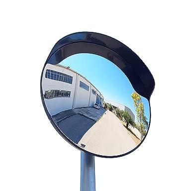 Magasins et Bureaux avec avec Support pour Tube 48 mm Garages SNS SAFETY LTD Miroir de Circulation Convexe 45 cm pour Routes Noir Entrep/ôts
