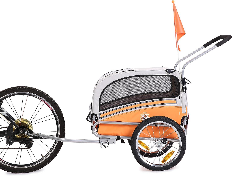 leonpets mascotas Carrito de transporte/colgante para bicicletas y Jogger 20303 (Naranja): Amazon.es: Productos para mascotas
