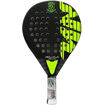 Pala de pádel Akkeron Atlas Ultimate R X6 Yellow Flúor: Amazon.es: Deportes y aire libre