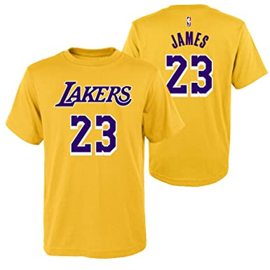 7a944f78ef5 Outerstuff Lebron James #23 Los Angeles Lakers Youth Dri-Fit Clima-Lite T