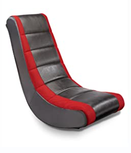 The Crew Furniture 51206 Classic Video Rocker Black/Red Mesh Racing Stripe
