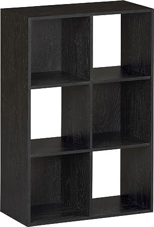 Systembuild Ameriwood 6 Cube Storage Unit Black Ebony Ash