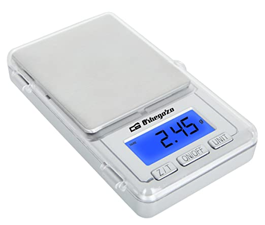 Orbegozo PC 3000 3000-Báscula electrónica de precisión, Plata, Acero inoxidable