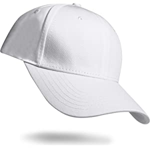 SAV ILE MAN キャップ メンズ 無地帽子 ぼうし cap コットン 100% おしゃれ ランニング スポーツ 野球帽 大きいサイズ (白)