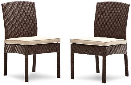 Pleasant Amazon Com Strathwood Griffen All Weather Wicker Dining Creativecarmelina Interior Chair Design Creativecarmelinacom